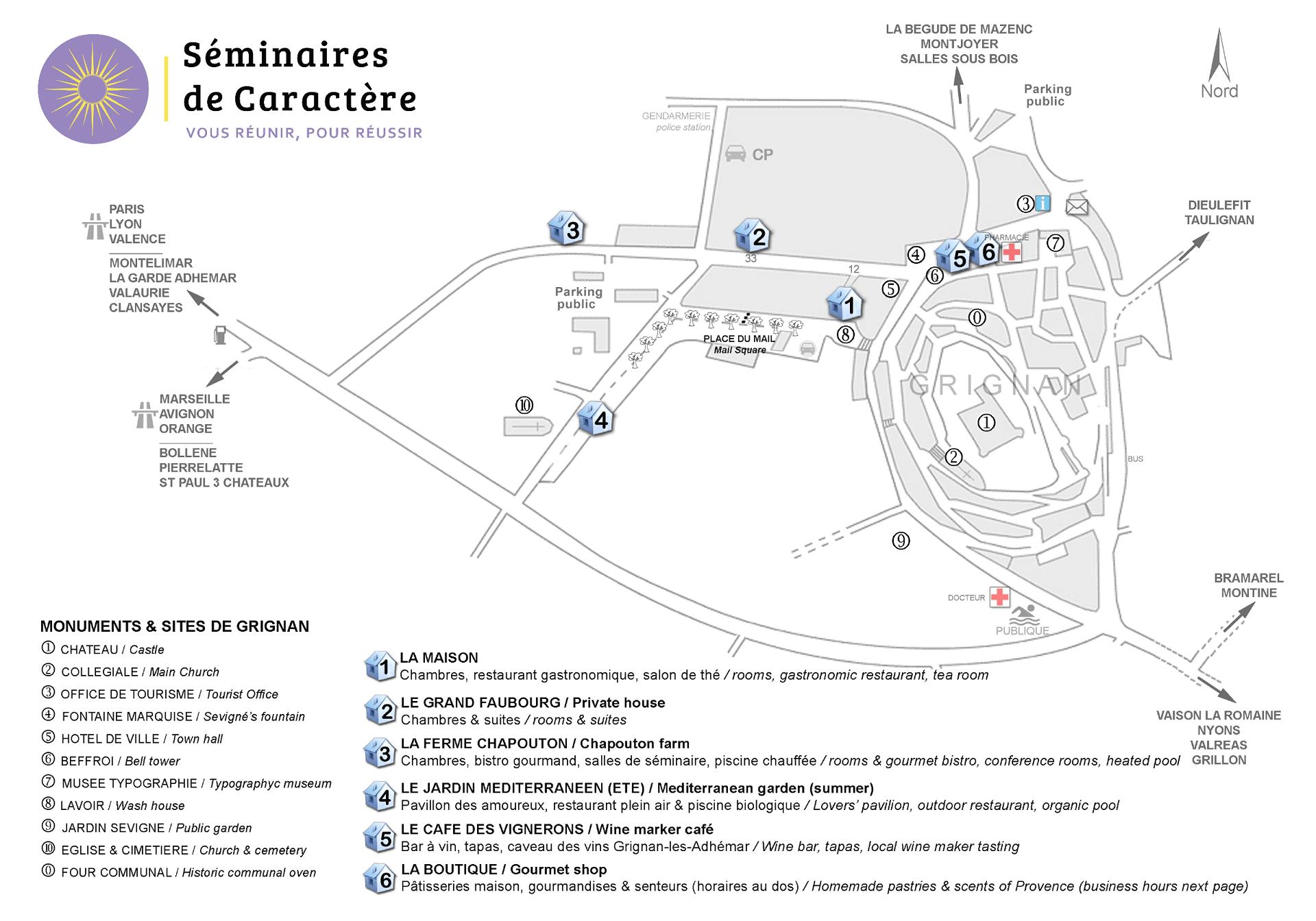 Implantation à Grignan des Maisons du Clair de la Plume-Seminaires de Caractere