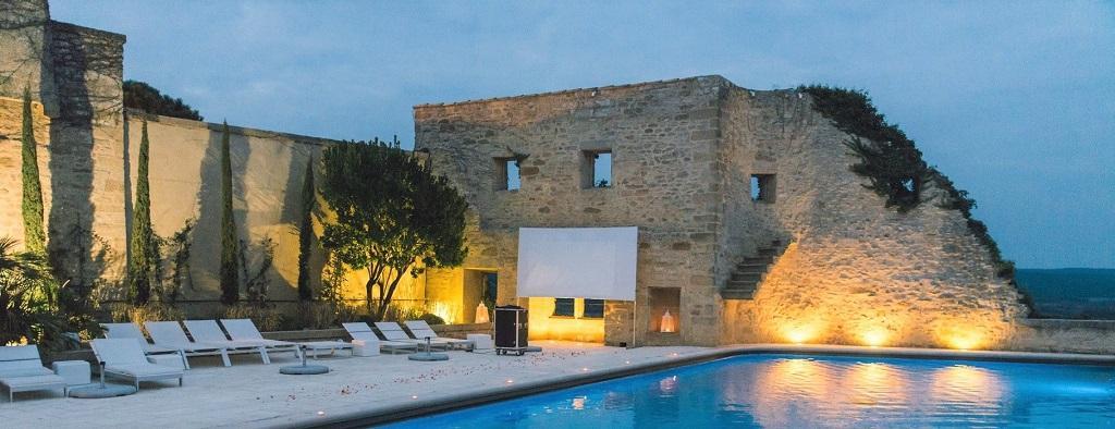 le-vieux-castillon-gard-provence-nimes-piscine panoramique-seminaires-de-caractere